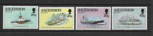 ASCENSION ISLAND - 1994 FALKLAND ISLANDS SHIPS - SCOTT 590 TO 593 - MNH
