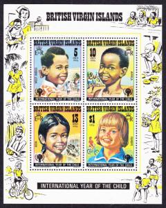 BVI International Year of the Child MS SG#MS412 SC#359a