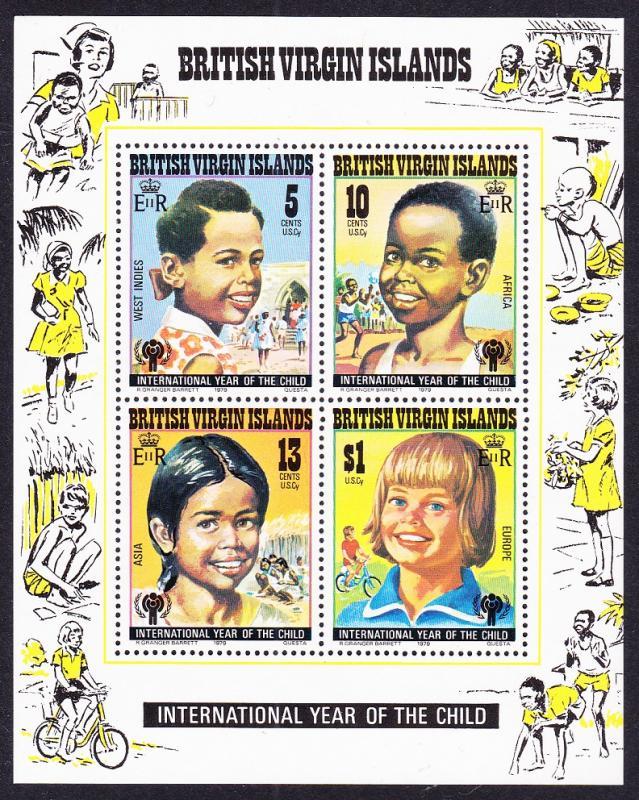 British Virgin Islands MNH S/S 359a International Year Of Child