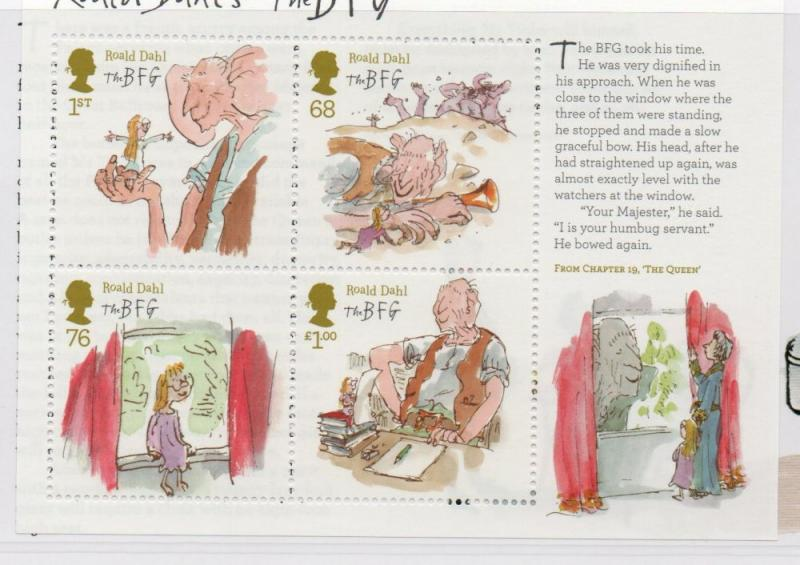 Great Britain Sc 2989 2012 Roald Dahl Illustrations stamp sheet mint NH