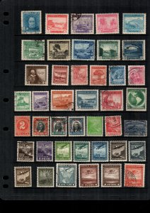 Chile  MH  and used lot of 38