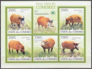 2009 Comoro Islands 2430-34KL Swine snout 9,00 €