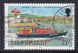Isle of Man #463 F-VF Used Sir William Hillary Lifeboat