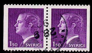 Sweden Scott # 1082, horiz. pair, used