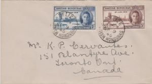 British Honduras 5c and 3c KGVI Peace Issue 1946 Belize, British Honduras to ...