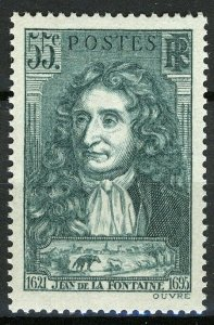 France 1938, 55c Jean de la Fontaine (1621-1695), poet VF MNH, Mi 429