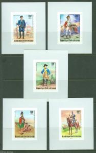 CENTRAL AFRICA   200th ANN OF THE UNITED STATES SOLDIERS DELUXE S/S SET MINT NH
