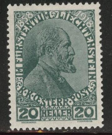 Liechtenstein Scott 10  MH* 1918
