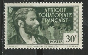 French Equatorial Africa # 42  DeBrassa 0.30fr  (1)    Unused