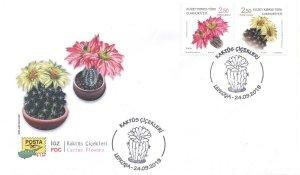 TURKISH NORTHERN CYPRUS/2019  (FDC)- CACTUS (Plant, Flower), MNH