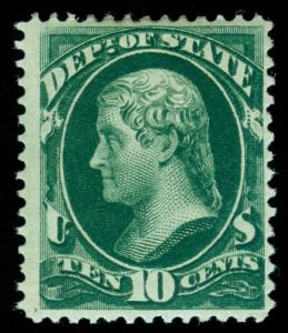 MOMEN: US STAMPS #O62 OFFICIAL MINT OG H