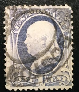 206  Franklin 1c, Am. Bank Note, canceled single,  Vic's Stamp Stash