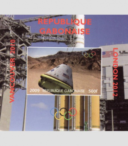 Gabon 2009 SPACE Apollo Ovpt.London Olympics s/s Imperforated mnh.vf