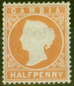 Gambia 1880 1/2d Dull Orange SG11B Fine MNH