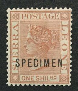 MOMEN: SIERRA LEONE SG #34s 1888 SPECIMEN MINT OG H LOT #191628-640
