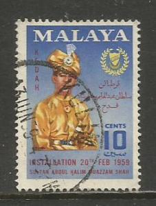 Malaya-Kedah   #94  Used  (1959)  c.v. $0.30