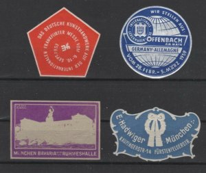 Germany- Lot of 4 Miscellaneous Embossed Seals
