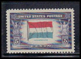 912 5c Flag of Luxembourg Fine MNH W3829