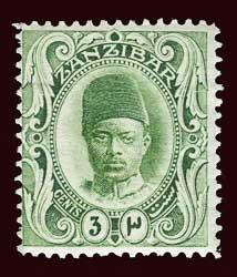 ZANZIBAR Scott #100 (SG 226) 1908 Sultan unused HR