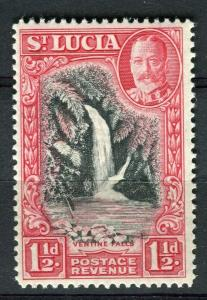 ST. LUCIA; 1936 early GV pictorial issue fine Mint hinged 1.5d. value