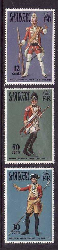 St Vincent-Sc#330-2- id5-unusedNH set-Military-Uniforms-1972-