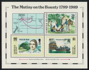 Norfolk Bicentenary of the Mutiny on the 'Bounty' MS SG#MS464 SC#456