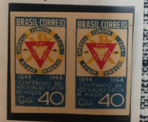 O) 1944 BRAZIL. PROOF IMPERFORATED, YMCA SEAL -YOUNG MEN´S CHRISTIAN ASSN- SC
