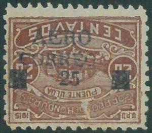 88716 - HONDURAS -  Yvert # PA 6A ERROR: Inverted  Overprint -   MINT MH Hinged
