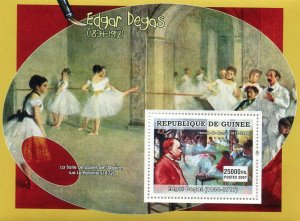 Guinea 2007 EDGAR DEGAS Paintings s/s Perforated Mint (NH)