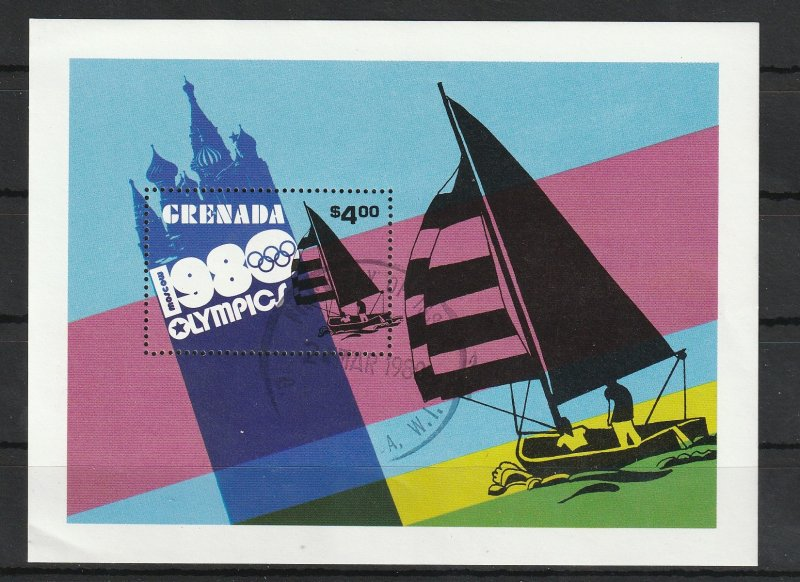 Grenada Used S/S 984 Moscow Olympics Yachting 1980