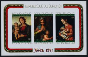 Burundi 378a imperf MNH Christmas, Art, Paintings