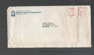 Australian Stamps 1985 Cover World Travel Headquarters Ansett Pioneer Brisbane 4