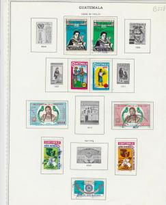 guatemala issues of 1974-76 stamps page ref 18396