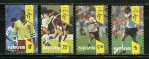 NEVIS WORLD CUP SOCCER '90 SCOTT #620/23 MINT NEVER HINGED-SCOTT VALUE $8.25