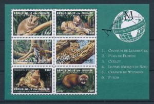 Guinea MNH S/S Wild Animals 1998 6 Stamps