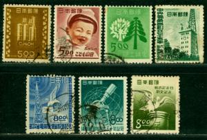 Japan 1948/1950  - 7  COMMEMORATIVE issues - USED