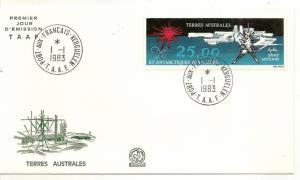 FSAT 1983 25fr Antarctica FDC
