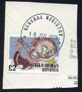 Isle of Man Two Pound Multicoloured QEII Pictorial Revenue CDS On Piece