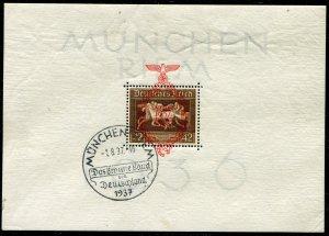 German Reich   Sc.# B90   first Day Cancell   MLH*  Mi.# Block 8