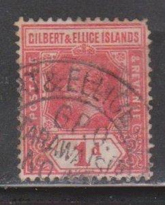 GILBERT & ELLICE ISLANDS Scott # 15 Used - KGV Definitive