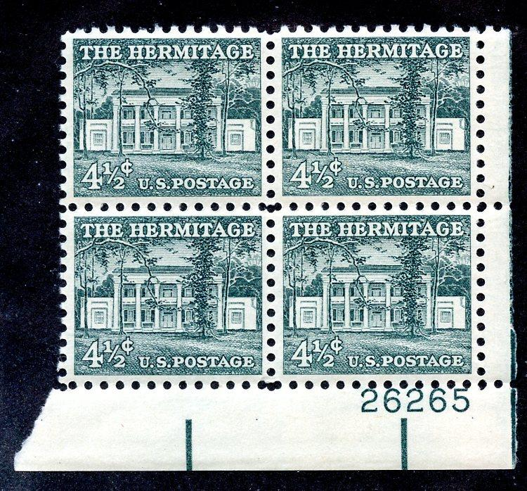 U.S. Scott 1037 VF MNH Plate Block of 4