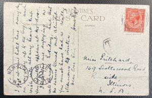 GB #160 OR #188 Used F/VF Postcard DUE 2 CENTS - King George V c1932 [PC28]