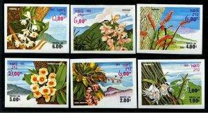 HERRICKSTAMP LAOS Sc.# 467-72 Flora Imperf Stamps