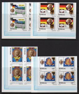 Senegal 1992 Mi#1227/1230 KONRAD ADENAUER German Leader Block of 4 IMPERFORATED