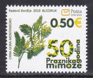 Montenegro 2019 50th anniversary of the Mimosa Festival Flora Plants stamp MNH