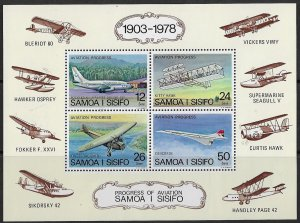 Samoa MNH S/S Progress Of Aviation