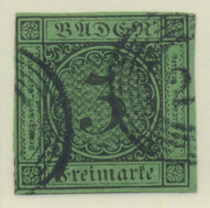 Baden (German State) Stamp Scott #7, Used, Good Margins - Free U.S. Shipping,...