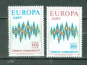 TURKEY 1972 EUROPA #1907-1908...SET...MNH..$7.50