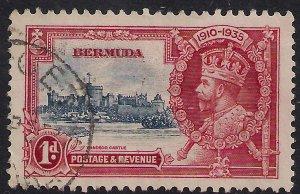 Bermuda 1935 KGV 1d Silver Jubilee used SG 94 ( D779 )