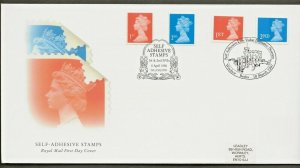 18/3/97+6/4/1998 DUAL DATED-SELF-ADHESIVE COILS,ORIGINAL & NEW SHAPE  ISSUES FDC